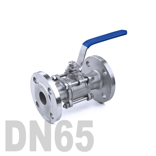 Кран шаровый фланцевый нержавеющий AISI 304 DN65 (76.1 мм)
