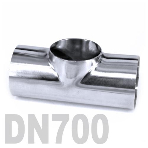 Тройник нержавеющий приварной AISI 316 DN700 (711.2 x 3 мм)