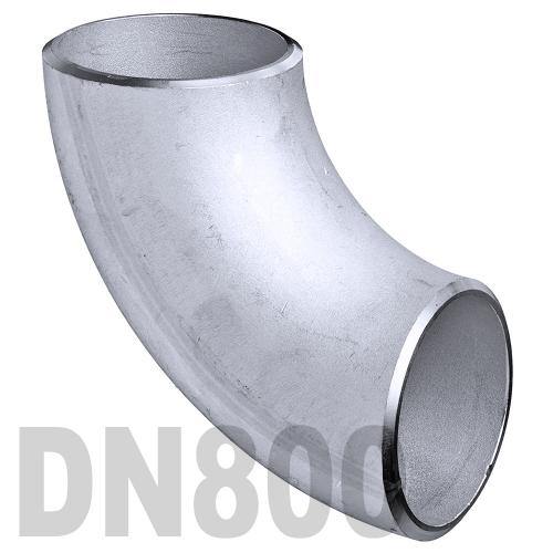 Отвод нержавеющий приварной AISI 316 DN800 (812 x 3 мм)