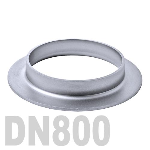 Фланцевая нержавеющая отбортовка AISI 304 DN800 (812 x 3,0 мм)