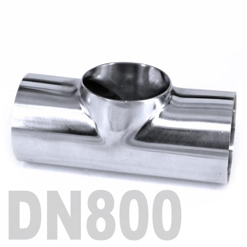 Тройник нержавеющий приварной AISI 304 DN800 (812 x 3 мм)