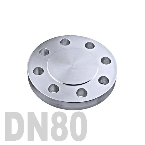 Фланцевая нержавеющая заглушка AISI 316 DN80 (84 мм)