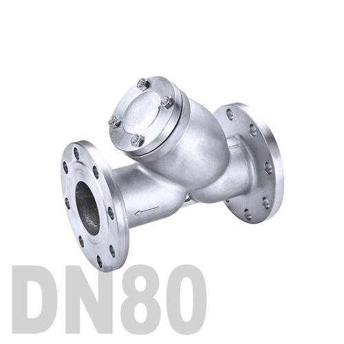 Фильтр фланцевый нержавеющий AISI 316 DN80 (88.9 мм)