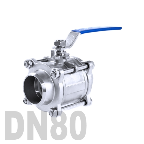 Кран шаровой сварной нержавеющий AISI 316 DN80 (88.9 мм)