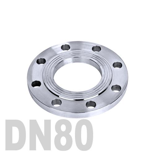 Фланец нержавеющий плоский AISI 304 DN80 (88.9 мм)