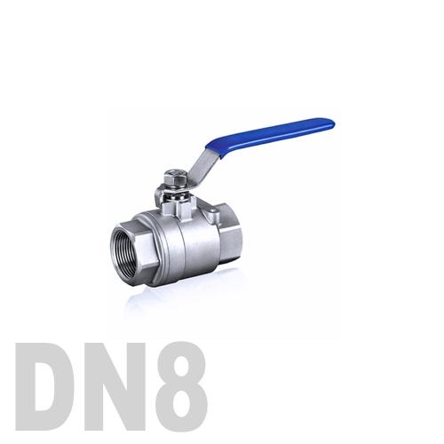 Кран шаровой муфтовый нержавеющий AISI 316 DN8 (13.7 мм)