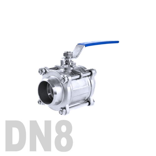 Кран шаровой сварной нержавеющий AISI 304 DN8 (13.7 мм)