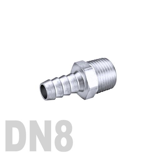 Штуцер шланговый нержавеющий «ёлочка» [нр] AISI 316 DN8 (13.7 x 10.0 мм)
