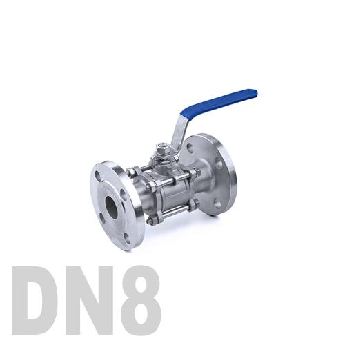 Кран шаровый фланцевый нержавеющий AISI 316 DN8 (13.7 мм)